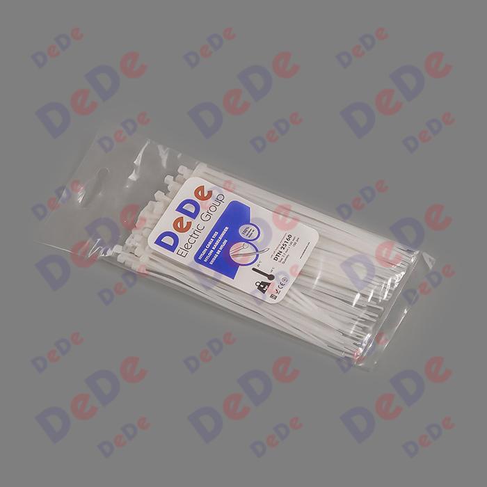 بست کمربندی پلاستیکی با عرض 2.5 میلیمتر و طول 160 میلیمتر سفید رنگ (DTN25160)