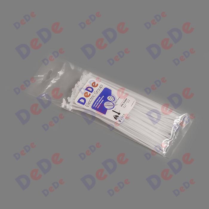 بست کمربندی پلاستیکی با عرض 2.5 میلیمتر و طول 200 میلیمتر سفید رنگ (DTN25200)