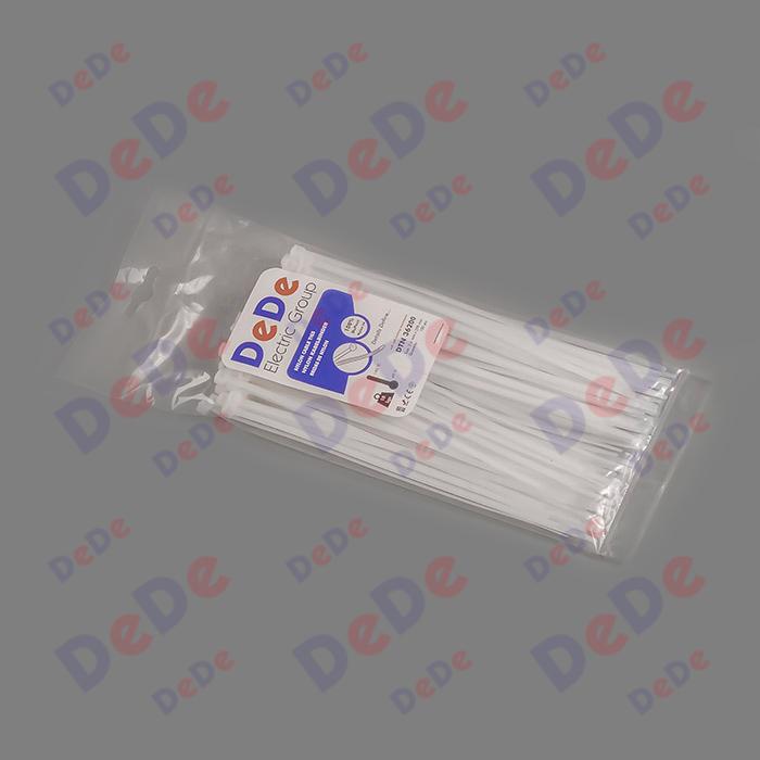 بست کمربندی پلاستیکی با عرض 3.6 میلیمتر و طول 200 میلیمتر سفید رنگ (DTN36200)