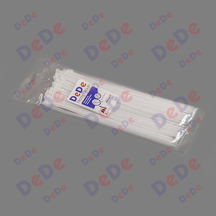 بست کمربندی پلاستیکی با عرض 3.6 میلیمتر و طول 300 میلیمتر سفید رنگ (DTN36300)