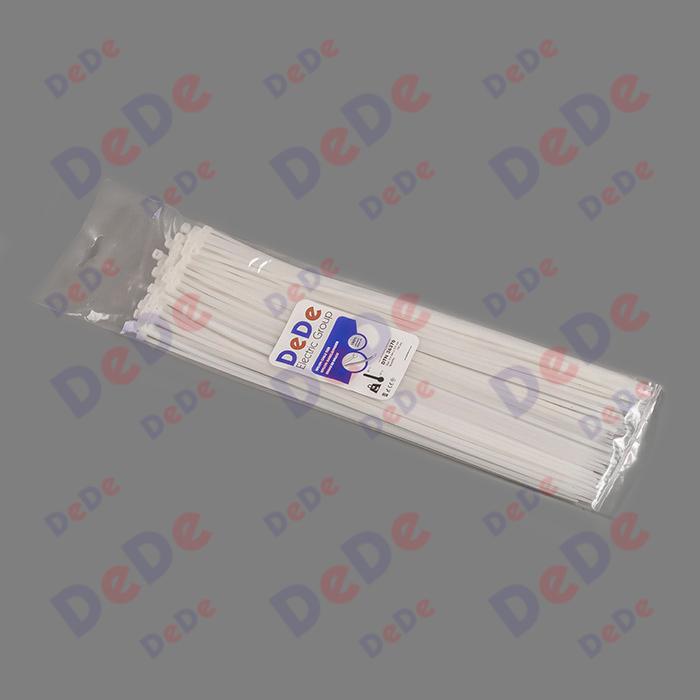 بست کمربندی پلاستیکی با عرض 3.6 میلیمتر و طول 370 میلیمتر سفید رنگ (DTN36370)