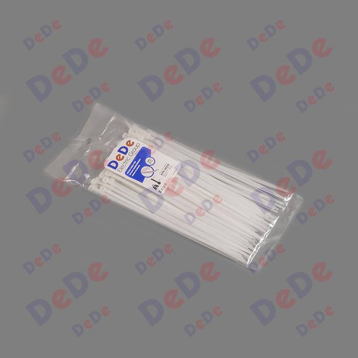 بست کمربندی پلاستیکی با عرض 4.8 میلیمتر و طول 250 میلیمتر سفید رنگ ?(DTN48250)