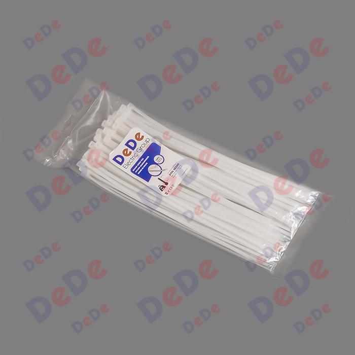 بست کمربندی پلاستیکی با عرض 4.8 میلیمتر و طول 300 میلیمتر سفید رنگ (DTN48300)