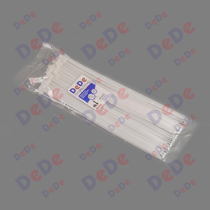 بست کمربندی پلاستیکی با عرض 4.8 میلیمتر و طول 430 میلیمتر سفید رنگ (DTN48430)