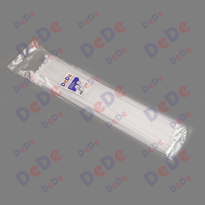 بست کمربندی پلاستیکی با عرض 4.8 میلیمتر و طول 530 میلیمتر سفید رنگ (DTN48530)