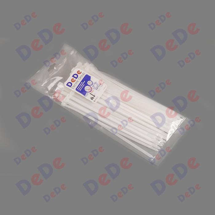 بست کمربندی پلاستیکی با عرض 7.6 میلیمتر و طول 300 میلیمتر سفید رنگ (DTN76300)