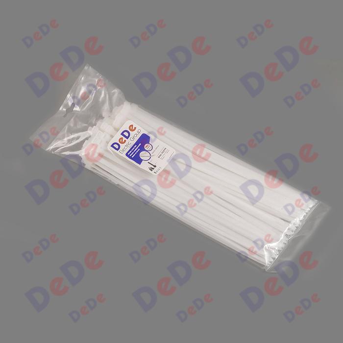 بست کمربندی پلاستیکی با عرض 7.6 میلیمتر و طول 370 میلیمتر سفید رنگ (DTN76370)