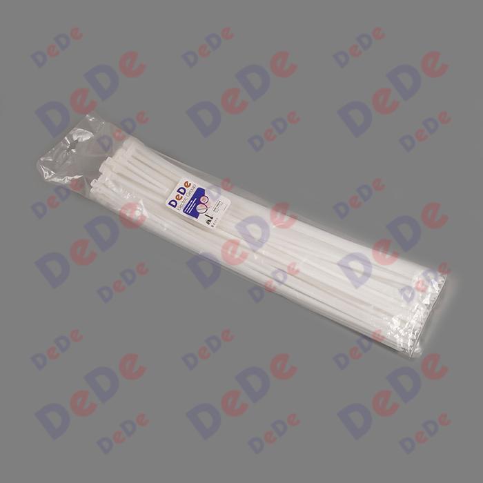 بست کمربندی پلاستیکی با عرض 7.6 میلیمتر و طول 610 میلیمتر سفید رنگ (DTN76610)