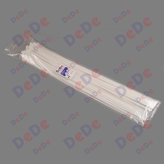 بست کمربندی پلاستیکی با عرض 7.6 میلیمتر و طول 750 میلیمتر سفید رنگ (DTN76750)