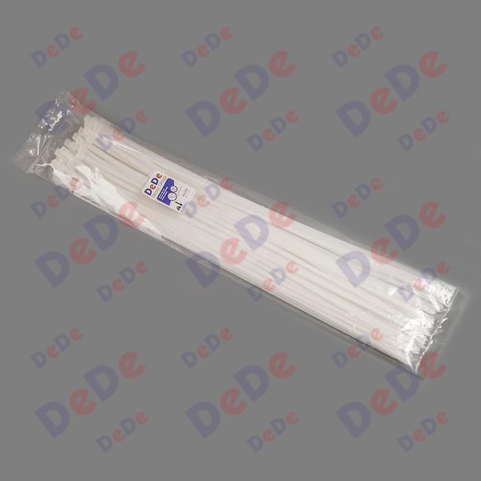 بست کمربندی پلاستیکی با عرض 9.0 میلیمتر و طول 1020 میلیمتر سفید رنگ (DTN901020)