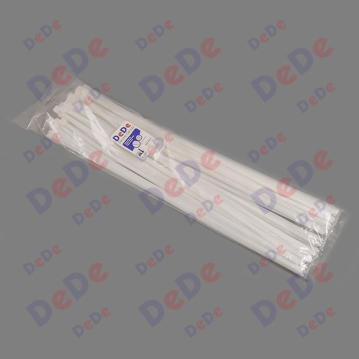 بست کمربندی پلاستیکی با عرض 9.0 میلیمتر و طول 710 میلیمتر سفید رنگ (DTN90710)