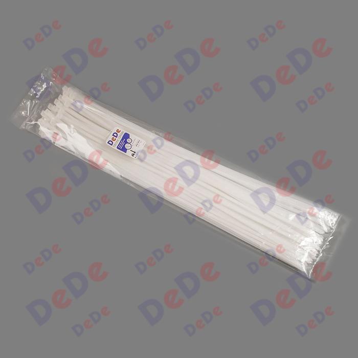 بست کمربندی پلاستیکی با عرض 9.0 میلیمتر و طول 810 میلیمتر سفید رنگ (DTN90810)